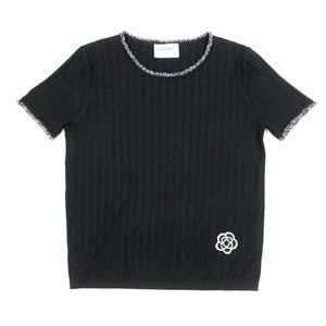 CHANEL Beaded Flower Top SS